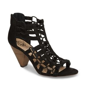 Vince Camuto Elanso Black Strappy Heeled Sandals